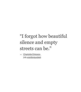 empty, silence and forget