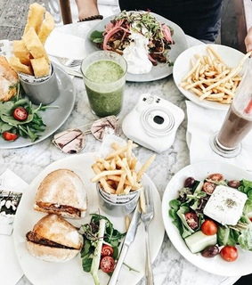 camera, food and fries