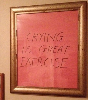 crying, exercise and frame