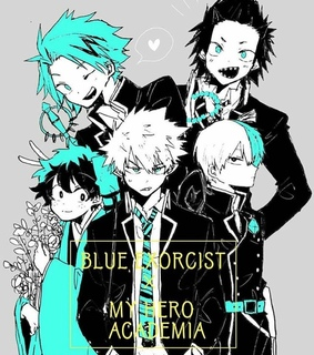crosover, kirishima and ao no exorcist