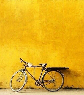 quotes, bike and yellow