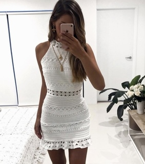 fashion, girl and white dress