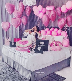 balloons, bedroom and birthday