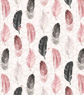pastel, feathers and wallpaper