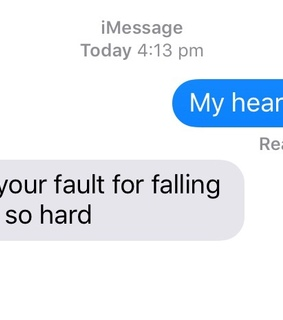 imessage, loss and broken heart