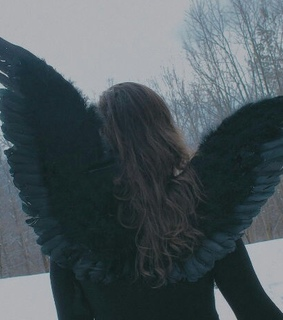 angel, black and dreamy