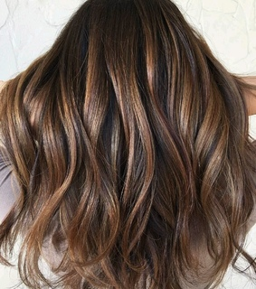 balayage, beauty and dark hair
