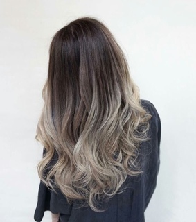 balayage, beauty and blond