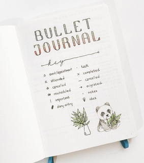 journal, key and layout