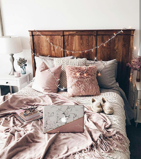 pink, home sweet home and vintage