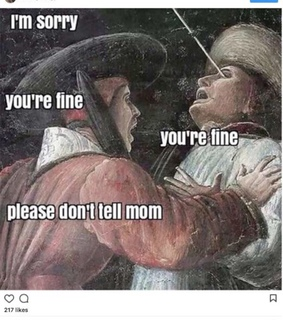 SIBLING, brother and classical art meme