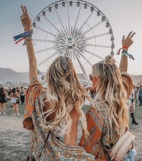 coachella, hair goals and bff goals