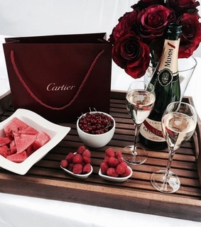 cartier, champagne and classy