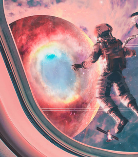 space, astronaut and aesthetic