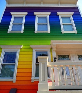rainbowcore, house and colorful