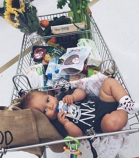 fashion, mother and vegetables