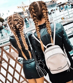 Haistyle, backpack and fashion