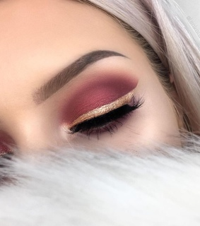 beauty, brows and burgundy