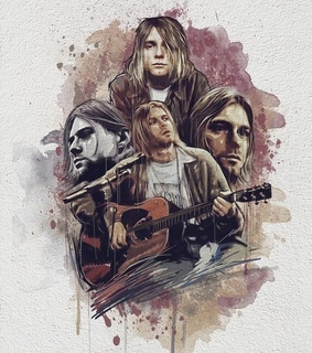 guitar, nirvana and picture