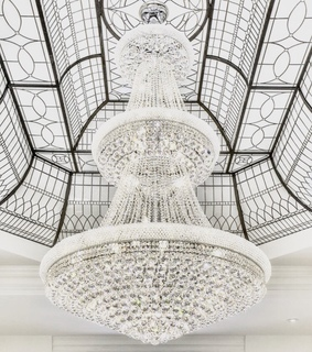 chandelier and interior