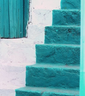 stairs, blues and photography