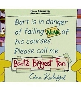 Letter, bart and bart simpson
