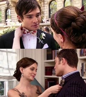 chair, chuck bass and blair waldorf