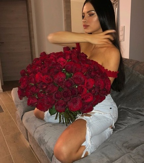 bouquet, girl and postbad