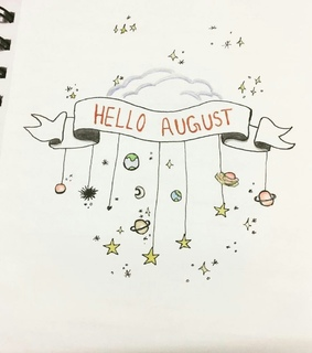 bujo, bullet journal and August