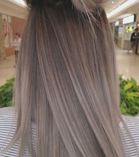 ash hair, ashy and balayage