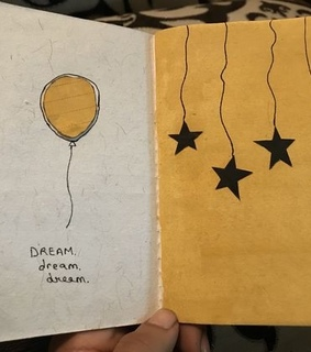 aesthetic, journal and yellow