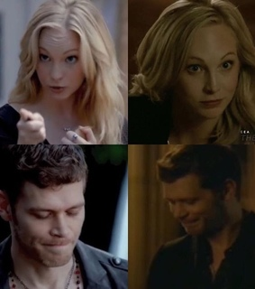candice king, klaus mikaelson and joseph morgan