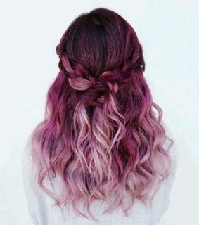 beautiful hair and colored hair