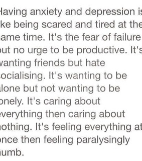 anxiety, depression and facts