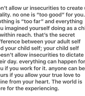 accepting, beautiful and goals