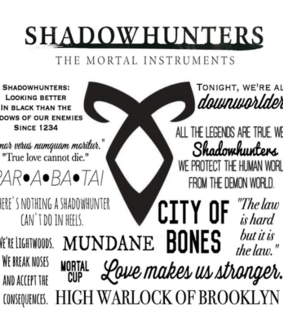 mortal instruments, quotes and shadowhunters
