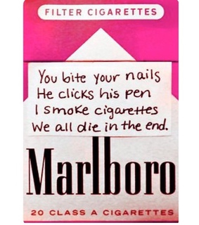 cigarettes, death and die