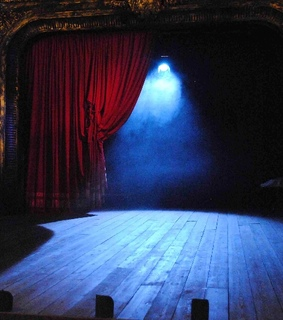 red, stage and theatre