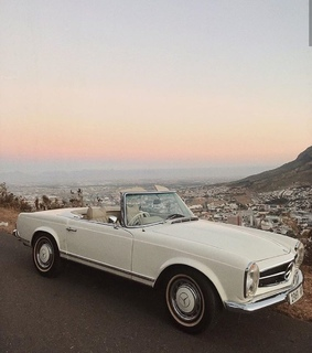 white car, vintage style and luxury living
