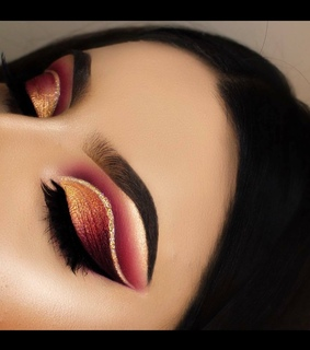 glam, cut crease and beauty
