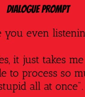 dialogue, prompt and writing