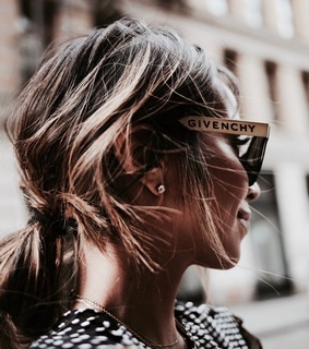 brunette, sunglasses and Givenchy