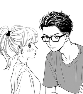 boy, anime and black and white