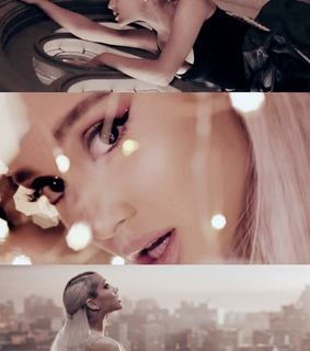 Collage, ariana grande and music video