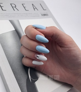 aestheric, baby blue nails and beauty