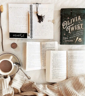books, coffee and sweater