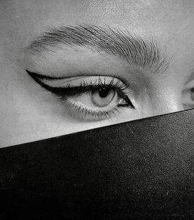 beauty, black and white and eye