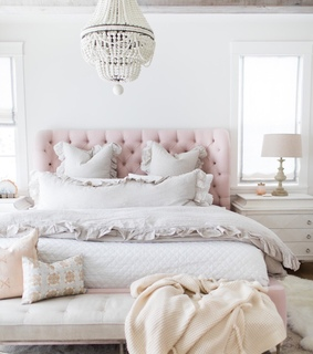 white, pink and design