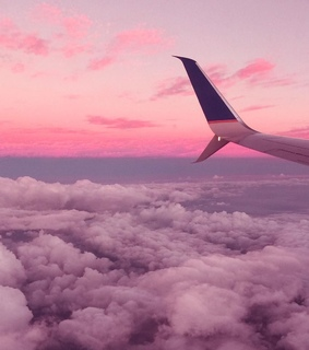 pink theme, sky and aesthetic