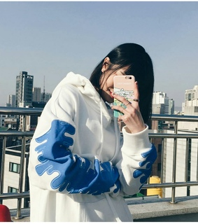 aesthetic, asian girl and blue